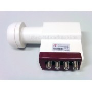 Inverto Universal Quad Long Neck LNB Red Line (IDLR-QUDL40-EXTND-OPP)